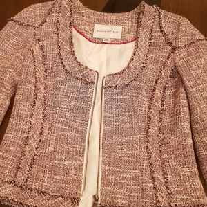 Banana Republic Chanel style Jacket 2, Red/White